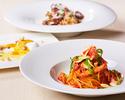 ◆〈記念日ディナー〉メッセージデザート付き 選べる世界三大珍味パスタ・メイン・デザート