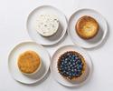 【テイクアウト】クワトロフロマージュ 4種のケーキを1ホールに