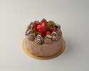 苺と生チョコのデコレーションケーキ(15㎝)