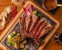 【60種フリーフロー】ホテル鉄板焼のクオリティをバーラウンジで 黒毛和牛骨付きステーキなど全3品