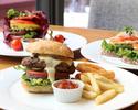 【2/8~】バーガーセット|お好きなバーガー類1品+フライドポテト+スープ+ストロベリーデザートプレート