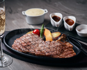 ◆【記念日黒毛和牛ステーキコース】全4皿 メッセージでお祝い&記念写真贅沢コース