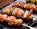 《お食事に》こだわり炭火焼き鳥5種やまろやか鶏雑炊など11品 3850円(税込)
