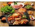 牛豚鶏3種のお肉が楽しめる!【全種類食べ放題 コリアンBBQコース】2H飲み放題付