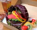 【期間限定10%OFF|テイクアウト】 10種の九州産野菜のヴィーガンバーガー(限定10食)