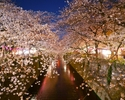 Cherry-blossom terrace commitment course + two-hour all-you-can-drink service