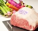 ●【12時~17時30分限定!】乾杯ドリンク付き 【さくら C】「神戸牛」ロース肉の鉄板焼きコース