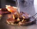 満足度No1!【鈴蘭】メインが2種・ヒレ肉などから選べるステーキや魚介・フォアグラの絶品鉄板料理を味わう全8皿