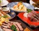 【記念日鳴子コース】名物!鰹の藁焼き塩たたき×初鰹お造り×デザートプレート