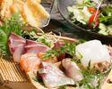 〈全10品〉お造り&天ぷらを堪能『魚ぅ天(ギョゥテン)コース』飲み放題付◆3980円