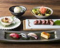 4/1-ランチ「寿司と和牛のよくばり御膳」人気の鉄板焼きと寿司を一度に楽しめる!