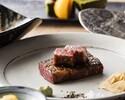 鉄板焼ランチ「笛」帆立と旬魚に季節のサラダ、メインは黒毛和牛!