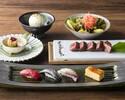 4/1-ディナー「寿司と和牛のよくばり御膳」人気の鉄板焼きと寿司を一度に楽しめる!
