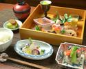 【白木御膳~桃源郷~】ご家族お友達とのお食事に厳選素材で誂えた和料理を盛り込んだ人気のランチ