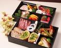 ご自宅でフルコース(要予約)【テイクアウト】【1名様用】神戸牛<70g>&オマール海老のお祝い1段御膳(ガーリックトースト)