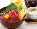 【ランチ】鉄火丼(寿司 白河)