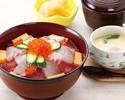 【ランチ】海鮮ばらちらし丼(寿司 白河)