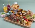 【ディナー】テキサスハンバーガー/BIGフライドチキンが選べるプリフィックスBBQプラン¥3,500