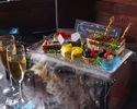 ※週末3,850円(税込)【BDコース】玉手箱デザート『1万匹の熱帯魚と祝う記念日コース』(シェアスタイル)