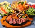 【宴会・飲み会】開放感も抜群♪ハワイアン空間の店内で!BBQコース