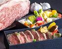 鉄板焼 加賀 初夏の和牛ステーキ二段重弁当¥5,000(税込)           【お持ち帰り専用・3日前まで要予約】