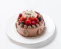 【テイクアウト】チョコレート生デコレーションケーキ 4号