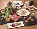 【七海感謝祭】A3ランクロースとフィレ肉A5ランクロースとフィレ肉の食べ比べ付き・京都産合鴨他全8品