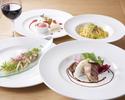 【UvaRara 7月の旬食材の特製ランチコース『イル・プランツォ』】アンティパスト2種、パスタ、選べるメイン、デザート盛り合わせ等全5品のイタリアンランチ