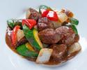 Advanced Purchase [Karin] Takeout Wok-fried diced Wagyu beef tenderloin with black pepper 5,000 yen