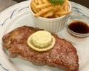 牛リブロースのステーキコース