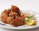 【テイクアウト】三笠会館伝統の味 骨付き鶏の唐揚げ(7個) 胡麻塩&マスタード添え