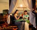 ボトルシャンパン1本とスペシャルフルーツプレート付きのガゼボ(屋根付きプライベートテーブル)※二部20時~22時