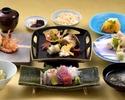 【季節の会席 料理長のおすすめ】 厳選食材を使用した前菜、お刺身、焼物など全10品