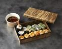 【テイクアウト】巻き寿司3種(みそ汁付き)