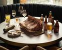 【テラス確約!4名~クラフトビールプラン】熊本産熟成肉グリル+乾杯酒+7種のビール含むフリーフロー