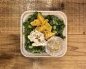 オレンジと枝豆とリコッタのサラダ