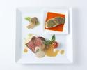 【直前割引】 お肉&お魚のダブルメインプレートランチ+サラード&スイーツアイランド付