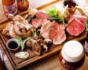 池袋夏のビアガーデン ベルギービール5種×TokyoX2部位と山形牛食べ比べ贅沢コース [2名様~ 150分飲み放題付(L.O 120分)]