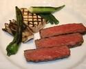 【パリステーキコース】最高級A5山形牛サーロイン&天然真鯛のWメインなど全8品