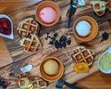【WEB予約限定価格★食べ放題】選べるモクテル1杯+ワッフル60分間食べ放題「HOTEL de WAFFLE」