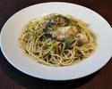 テイクアウト牡蠣とジェノベーゼのスパゲッティー