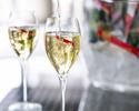 【土日祝限定シャンパンフリーフローランチ(Wメイン)】シャンパン含むフリーフロー+ 選べる前菜&メインなど全5品