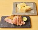 おつまみセット (マグレカナール柑橘仕立て&フォアグラのイヅツ味噌テリーヌ)