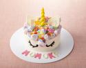 【セレブレーションケーキ】フラワーユニコーン