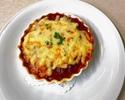キッズドリア:ミートソースとトマトソースのグラタンライス
