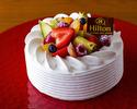 【記念日やお祝いに】生クリームショートケーキ 12cm