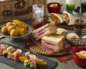 土・日・祝限定【Autumn Afternoon Tea ~Go To Urban Picnic~】スパークリングワイン&赤ワイン&白ワイン含む90分フリーフロー付