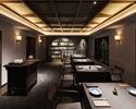 上海蟹と干し鮑のコース 60,000円(テーブル席)