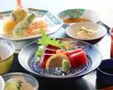 【昼の部】天ぷら刺身御膳