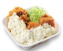 チキンカツとから揚げのタルタル合い盛り丼弁当 ご飯大盛